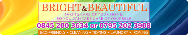 Advertising banner for Bright & Beautiful Cleaning Services in Rossendale