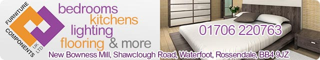 Advertising banner for Furniture Components in Rossendale