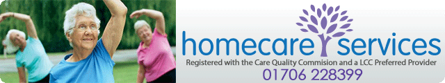 Advertising banner for Homecare Services in Rossendale