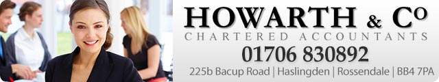 Advertising banner for Howarth & Co. Accountants in Rossendale