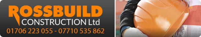 Advertising banner for Rossbuild Construction in Rossendale