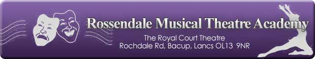 Advertising banner for the Rossendale Musical Theatre Academy, Bacup, Rossendale