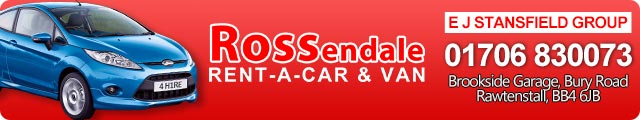 Advertising banner for Rossendale Rent-A-Car Car Hire In Rossendale