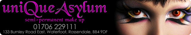 Advertising banner for Unique Asylum in Rossendale